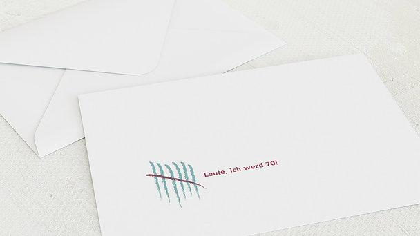 Umschlag mit Design Geburtstag - Strichliste 70