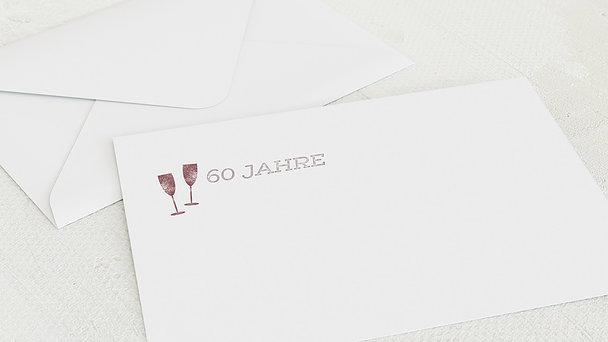 Umschlag mit Design Geburtstag - Terminsache 60