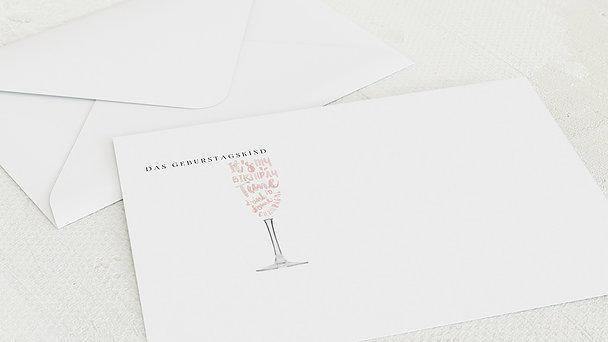 Umschlag mit Design Geburtstag - Champagner-holic 40