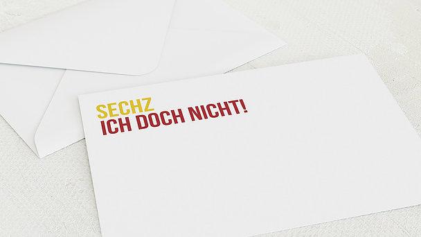 Umschlag mit Design Geburtstag - Sechzich