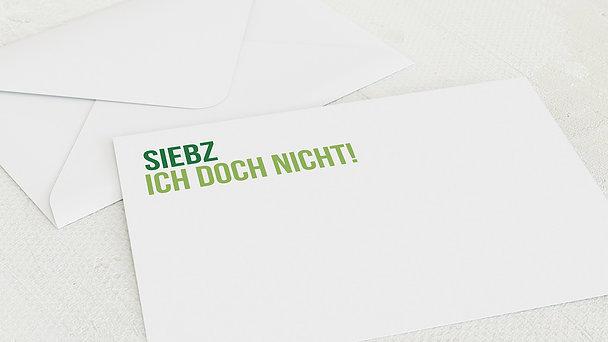Umschlag mit Design Geburtstag - Siebzich