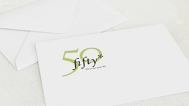 Umschlag mit Design Geburtstag - Fifty Fifty