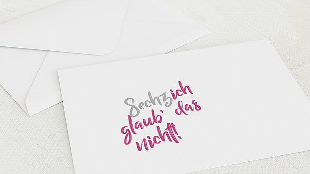 Umschlag mit Design Geburtstag - Not me 60