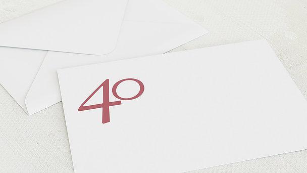 Umschlag mit Design Geburtstag - Meine Vierzig