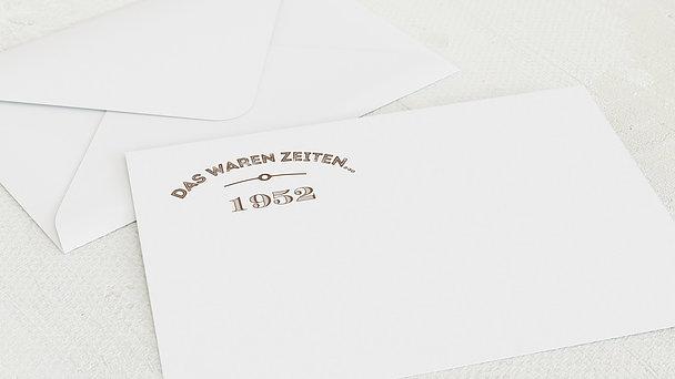 Umschlag mit Design Geburtstag - Alte Zeiten 70