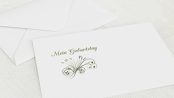 Umschlag mit Design Geburtstag - Feuerwerk 80