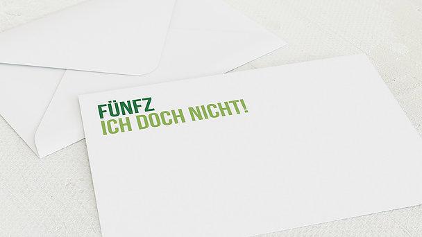 Umschlag mit Design Geburtstag - Fünfzich