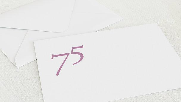 Umschlag mit Design Geburtstag - Meine Fünfundsiebzig