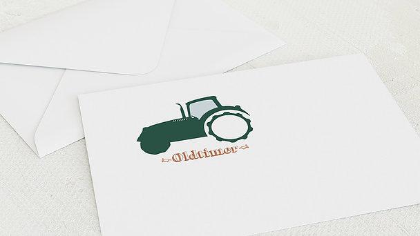 Umschlag mit Design Geburtstag - Bulldog Foto
