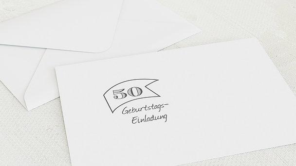 Umschlag mit Design Geburtstag - Jahrestafel 50