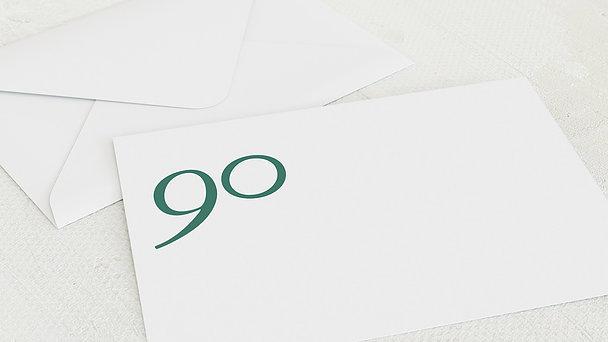 Umschlag mit Design Geburtstag - Meine Neunzig