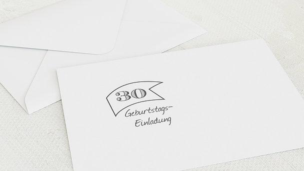 Umschlag mit Design Geburtstag - Jahrestafel  30