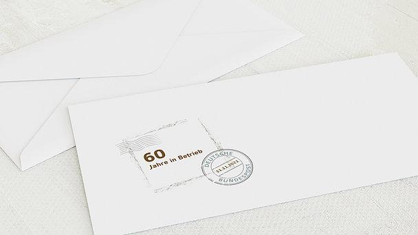 Umschlag mit Design Geburtstag - Geburtstagspost 60