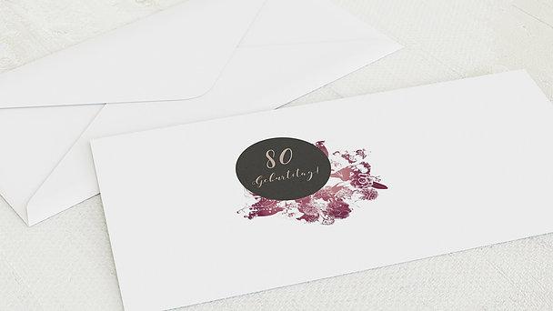 Umschlag mit Design Geburtstag - Flower Art 80