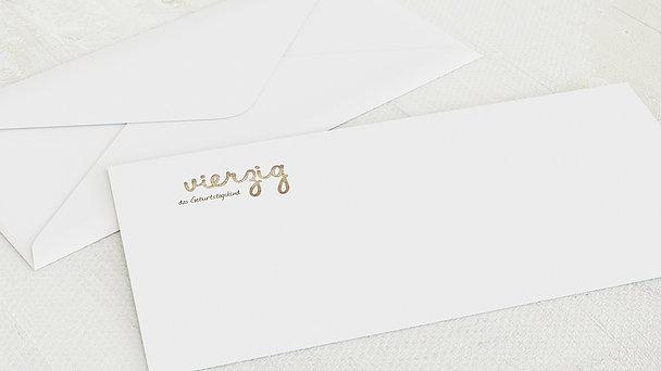 Umschlag mit Design Geburtstag - Goldener Tag 40