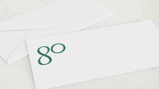 Umschlag mit Design Geburtstag - Meine Achtzig