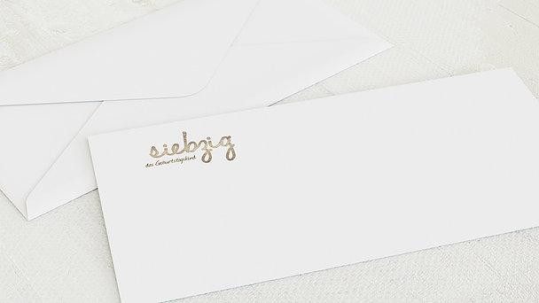 Umschlag mit Design Geburtstag - Goldener Tag 70