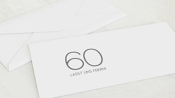 Umschlag mit Design Geburtstag - Neuer Anstrich 60