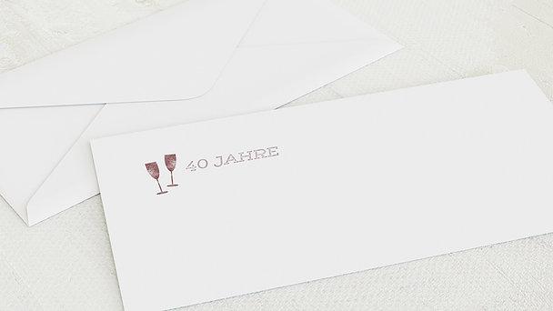 Umschlag mit Design Geburtstag - Terminsache 40