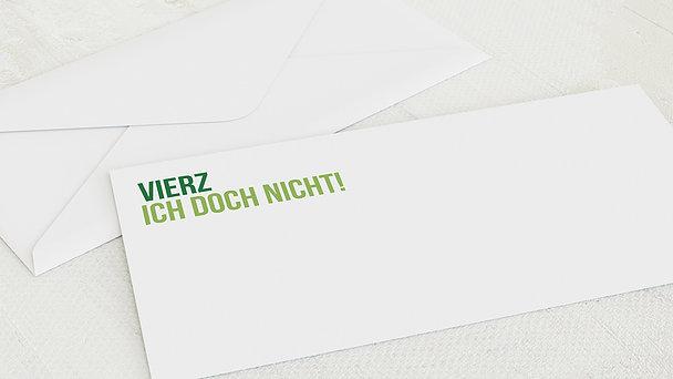Umschlag mit Design Geburtstag - Vierzich