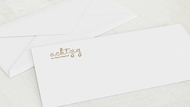Umschlag mit Design Geburtstag - Goldener Tag 80