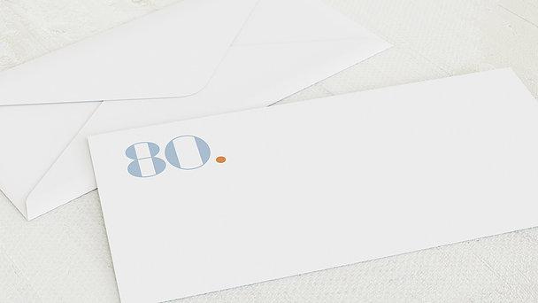 Umschlag mit Design Geburtstag - Geometrisch 80