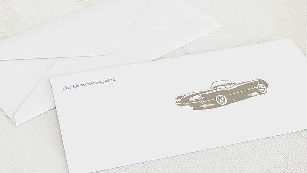 Umschlag mit Design Geburtstag - Heißer Schlitten 70