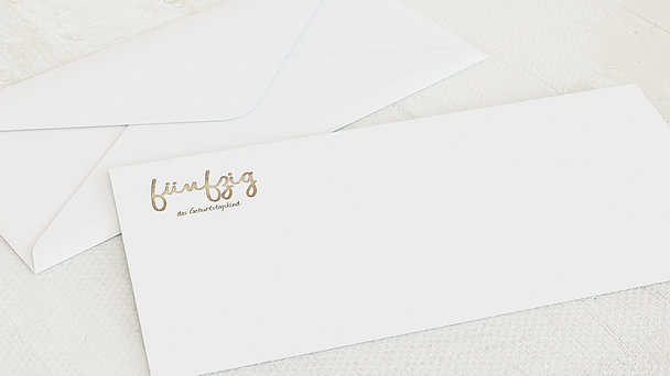 Umschlag mit Design Geburtstag - Goldener Tag 50