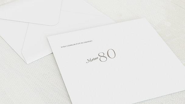 Umschlag mit Design Geburtstag - Lebensfreude 80