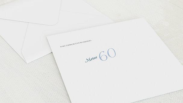 Umschlag mit Design Geburtstag - Lebensfreude 60