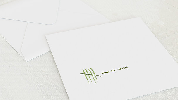 Umschlag mit Design Geburtstag - Strichliste 50