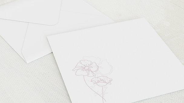 Umschlag mit Design Geburtstag - Geburtstagsblüten 80