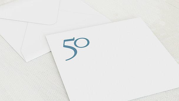 Umschlag mit Design Geburtstag - Meine Fünfzig