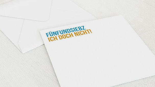 Umschlag mit Design Geburtstag - Fünfundsiebzich