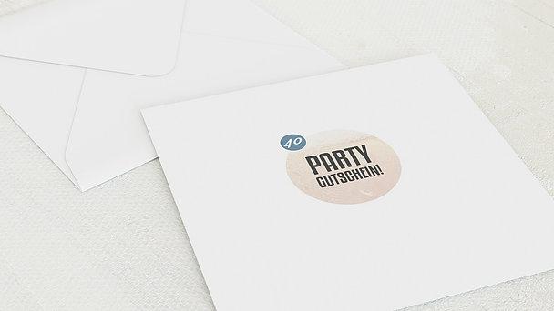 Umschlag mit Design Geburtstag - Gutschein Bier 40