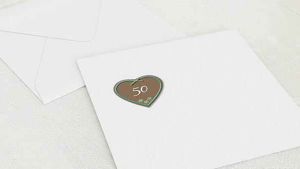 Umschlag mit Design Geburtstag - Wiesnherz mit Foto 50