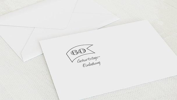 Umschlag mit Design Geburtstag - Jahrestafel 60