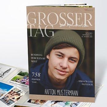 Festzeitung Konfirmation - Rustique Festschrift