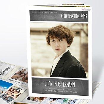 Festzeitung Konfirmation - Getäfelt Festschrift