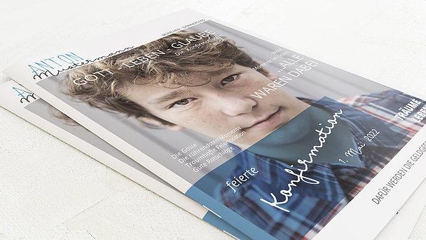 Festzeitung Konfirmation - Portraitfoto Festschrift