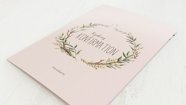 Menükarten Konfirmation - Konfirmationkranz