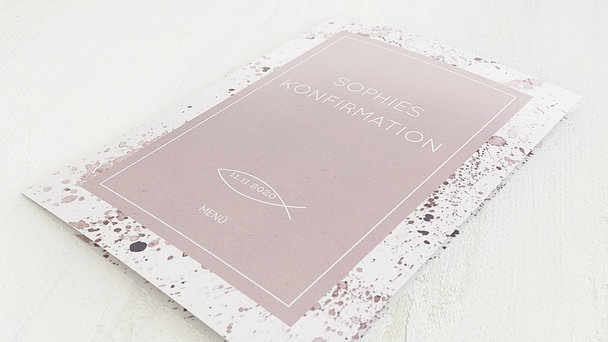 Menükarten Konfirmation - Konfirmations-Impression