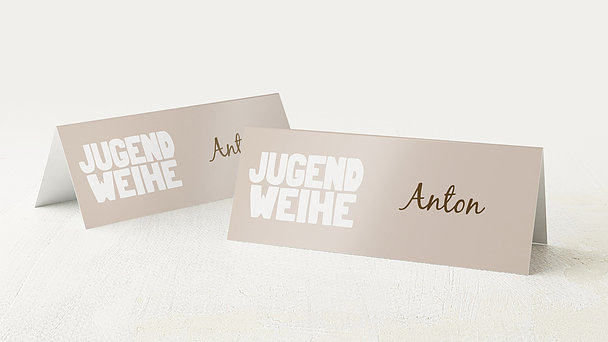 Tischkarten Jugendweihe - Fototext