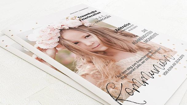 Festzeitung Kommunion - Konfettifreude Festschrift
