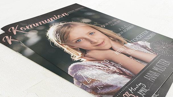 Festzeitung Kommunion - Ankündigung Festschrift