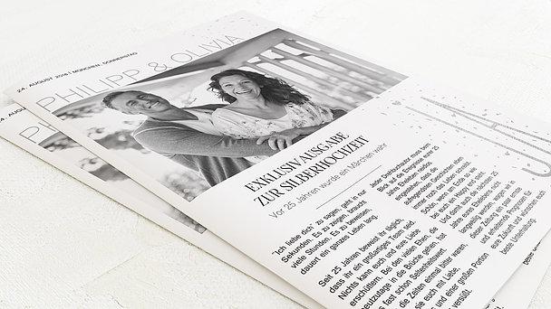 Festzeitung Silberne Hochzeit - Silbersturm Festschrift