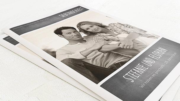 Festzeitung Silberne Hochzeit - Getäfelt Festschrift