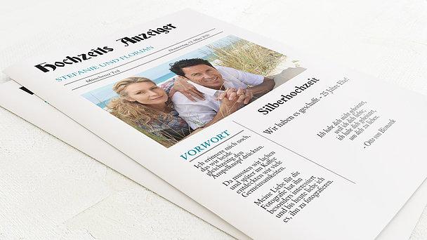Festzeitung Silberne Hochzeit - Zeitung