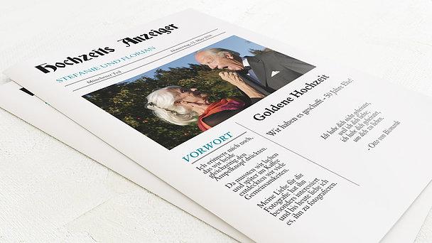 Festzeitung Goldene Hochzeit - Zeitung
