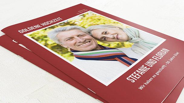 Festzeitung Goldene Hochzeit - Magazin